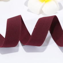 factory direct sale burgundy ribbon, elastic ribbon