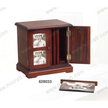 Caixa de madeira nova da foto para a decoração