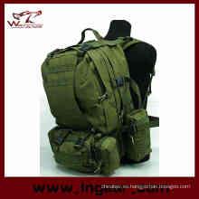 Combinación de asalto Molle táctico militar mochila para acampar