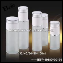 Proveedor cosmético 100ml de la botella del vidrio esmerilado, botella de cristal cosmética, botella de la loción de cristal del cuidado de piel