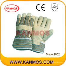 Cuero de cerdo amarillo Cuero guantes de trabajo de seguridad industrial (22001)