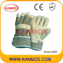 Yellow Pig Grain Leather Industrial Safety Work Gloves (22001)