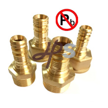 Low lead brass pex male coupling for PEX pipe