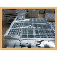 Rejilla de piso plana barrenada galvanizada, rejilla de reja dentada galvanizada, rejilla de barra galvanizada