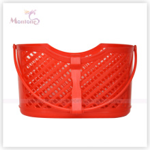 22.5*12*32cm Plastic Square Storage Basket with Handle