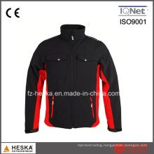 Wholesale 100% Polyester Twill Jacket Mens Heat Transfer Softshell Jacket