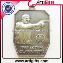 Medalla de los deportes del shooting del metal del diseño 3d