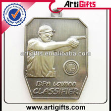 3d design metal shooting sports medal