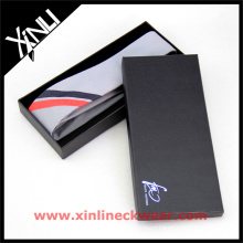 Silk Wool Blend Tie Black Packaging Hot Selling Neckties Gift Box Set