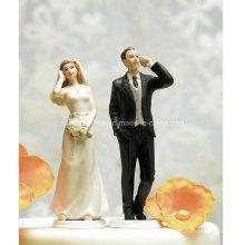 Сотовый Телефон Фанатиком Невеста Свадебный Торт Топпер Статуэтка
