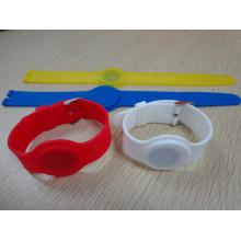 Pulseira RFID de borracha de silicone à prova d'água elegante
