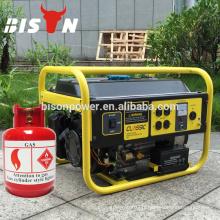 BISON Chine 1.5kw 2kw 2.5kw 3kw générateur de gaz naturel, petit générateur de guitare à usage domestique, générateur de gaz à essence trois fois en essence