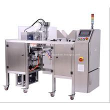 Máquina de embalagem pré-fabricada com bomba de medição para líquido