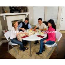 5FT mesa redonda plegable mesa de banquetes de banquete de comedor