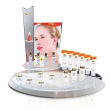 Pop Acrylic Cosmetic Counter Display Stand, Advertising Display Rack