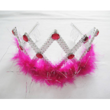Girls Red Feather PP Tiaras