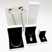 Custom made PU couro jóias colar caixa de embalagem