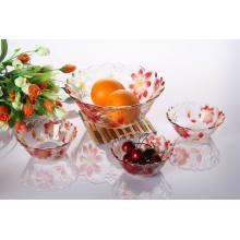 Heiße Verkauf 7PCS Glasschüssel-Sätze mit Farben-Spray (TZ7-GB16006P / BHP)