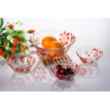 Hot Sale 7PCS Glass Bowl Sets with Color Spray (TZ7-GB16006P/BHP)