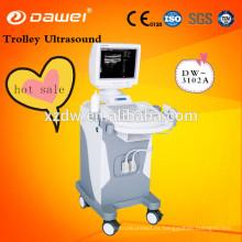 máquina médica de la ecografía de la carretilla 2D y máquina sin hilos del ultrasonido