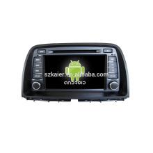 """8 """"carro dvd player, fábrica diretamente! Quad core, GPS, rádio, bluetooth para Mazda CX-5"""