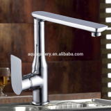 Contemporary Long Reach Single Handle Sink Mounted Brass Kitchen Tap