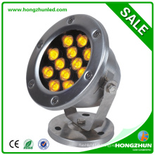 High waterproof 12w led underwater fishing light meanwell drver