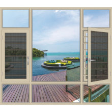 2019 aluminum big glass casement window factory sale