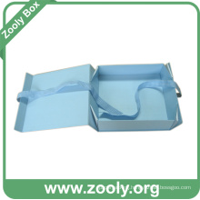 Baby Blue Foldable Cardboard Paper Gift Box
