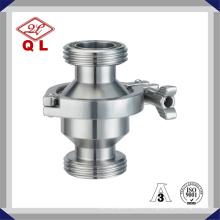 Válvula de retenção vertical ou horizontal para roscas sanitárias