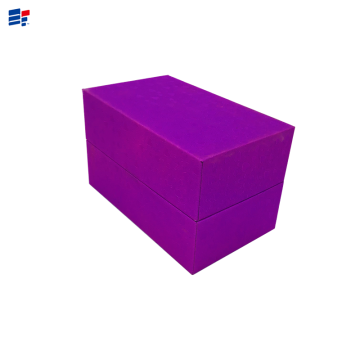 Exquisite purple cardboard paper box