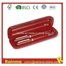 Высококачественная деревянная двойная ручка с деревянной подарочной коробкой