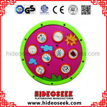 Round Wooden Play panel on Wall