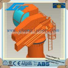 Cuerda de alambre de acero shanghai factory knuckle boom marino grúa de barco