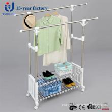 Nuevo diseño de acero inoxidable doble poste suspensión de ropa