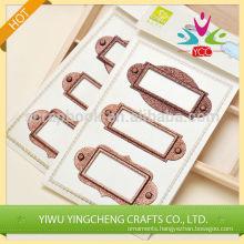 Metal crafts name tag holder/frame scrapbooking wholesaler
