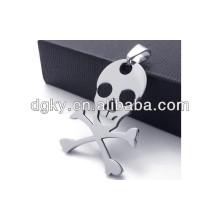 stainless steel skull and crossbones pendant