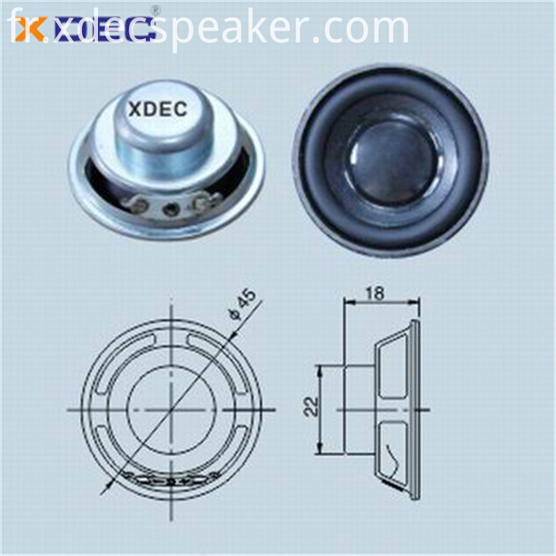 XDEC speaker factory supply 45mm 4ohm 5w full range speaker driver