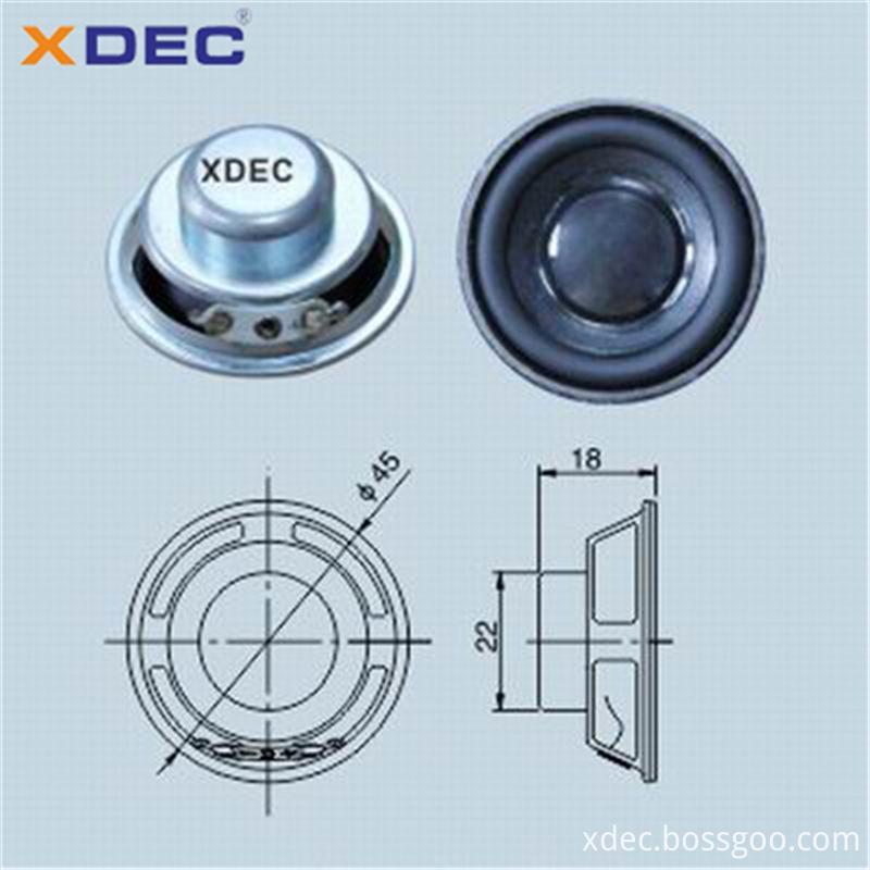 XDEC speaker factory supply 45mm 4ohm 5w full range speaker driver