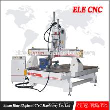 ELE 1325 Multi-tête En Bois Machine De Gravure prix fabricant / Chine bois cnc routeur