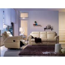 Sofá eléctrico del reclinatorio del sofá del cuero de la calesa del cuero genuino (893)