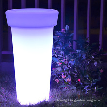 E27 DIY flower pot indoor and outdoor led plastic remote controller led glowing planter