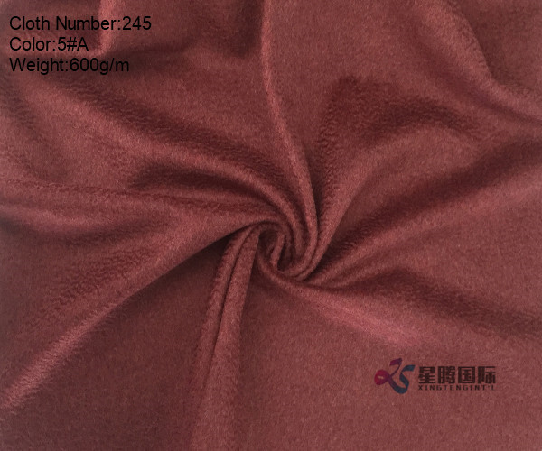 Water-wave 95% Wool And 5% Nylon Fabric Single Face