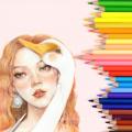 Andstal 12 Colors Oil Colored Pencil Set Watercolor Artist Drawing Pencils Rainbow Coloring Art Supplies Andstal