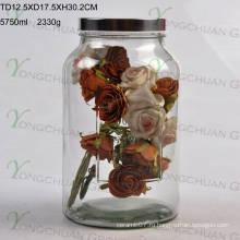 Стеклянный сосуд для напитков со стеклом 5.5 л с насадочной крышкой и стеклянной крышкой для стеклянных мисков