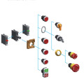 22mm High Flat Push Button Switch with Ce Certification
