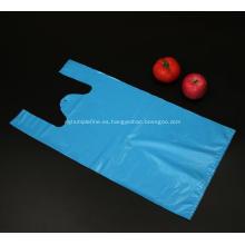 Bolsa de camiseta de color azul para ir de compras