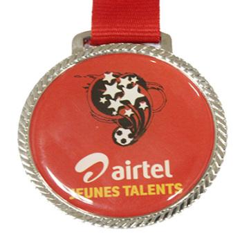 Оптовые продажи печатных футбола медаль (LM10050)