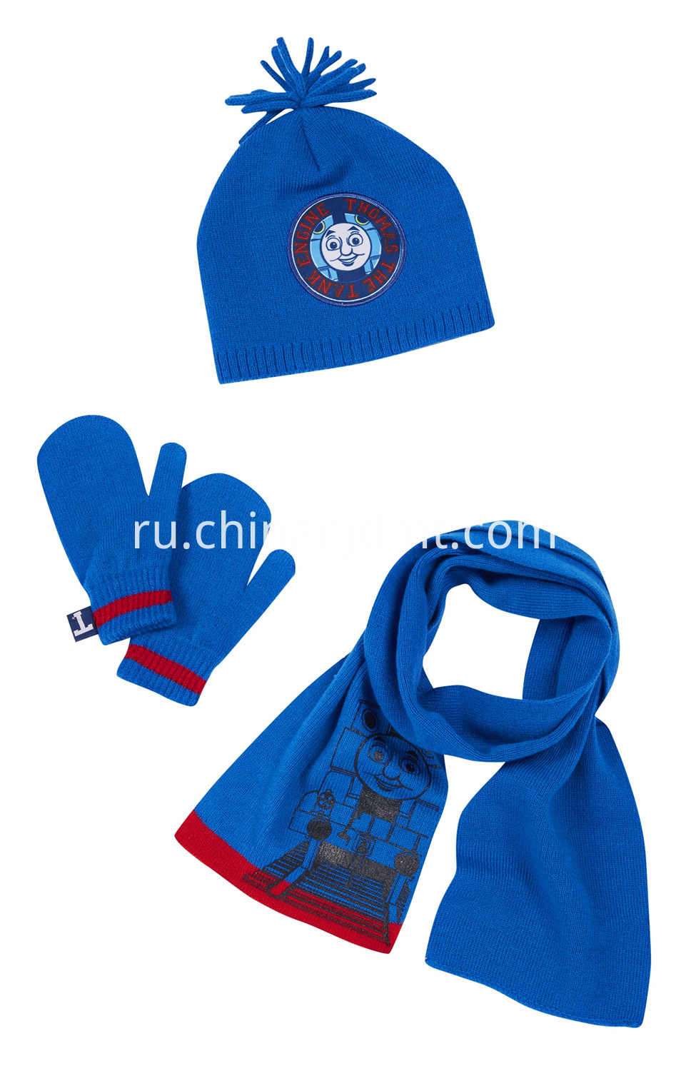 3 Pack Thomas Hat Glove Scarf Set