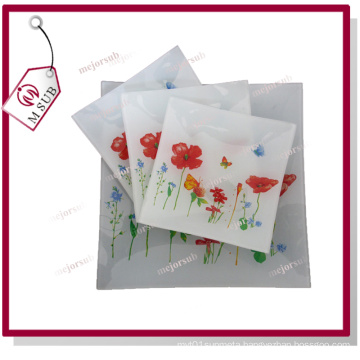 20cm Sublimation Customized Printed Square Glass Plates